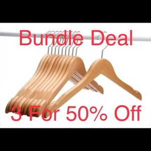 Bundle Any 3 Items and Receive 50% Offer